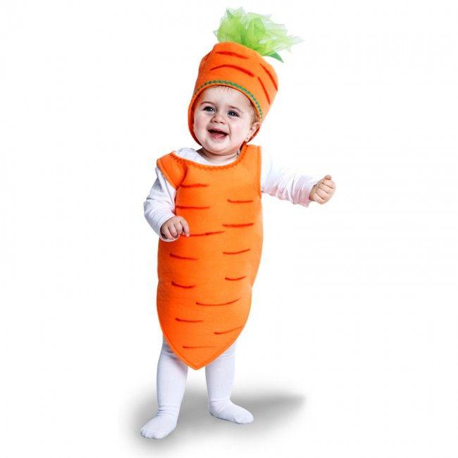 Disfraz de Zanahoria para bebé #disfraces #carnaval #novedades2017
