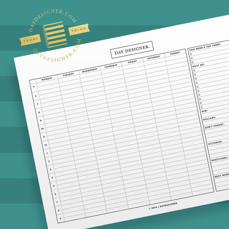 13 best A Planner for My Love images on Pinterest Hourly planner - microsoft weekly planner