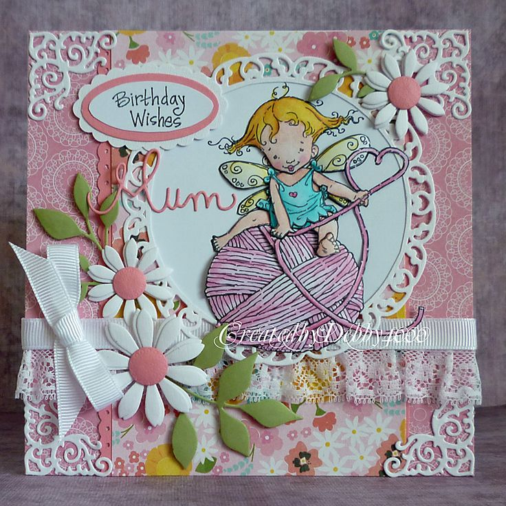A Scrapjourney: A Knitting Fairy for Mum