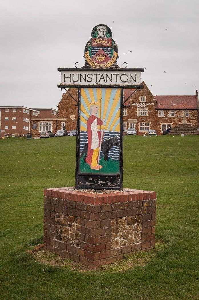 Day Nine. Thornham to Hunstanton. The end of the walk at Hunstanton.  North Norfolk Coast.