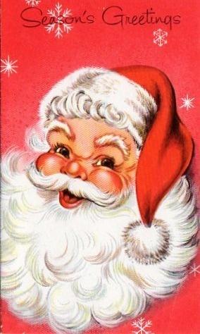 Awww, vintage Santa