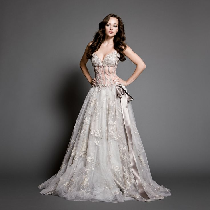 Daalarna Couture Silver Wedding Dress