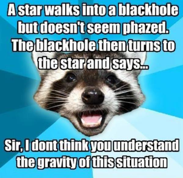 A star walks into a blackhole...