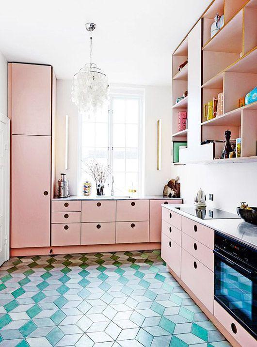 blush kitchen cabinets. / sfgirlbybay