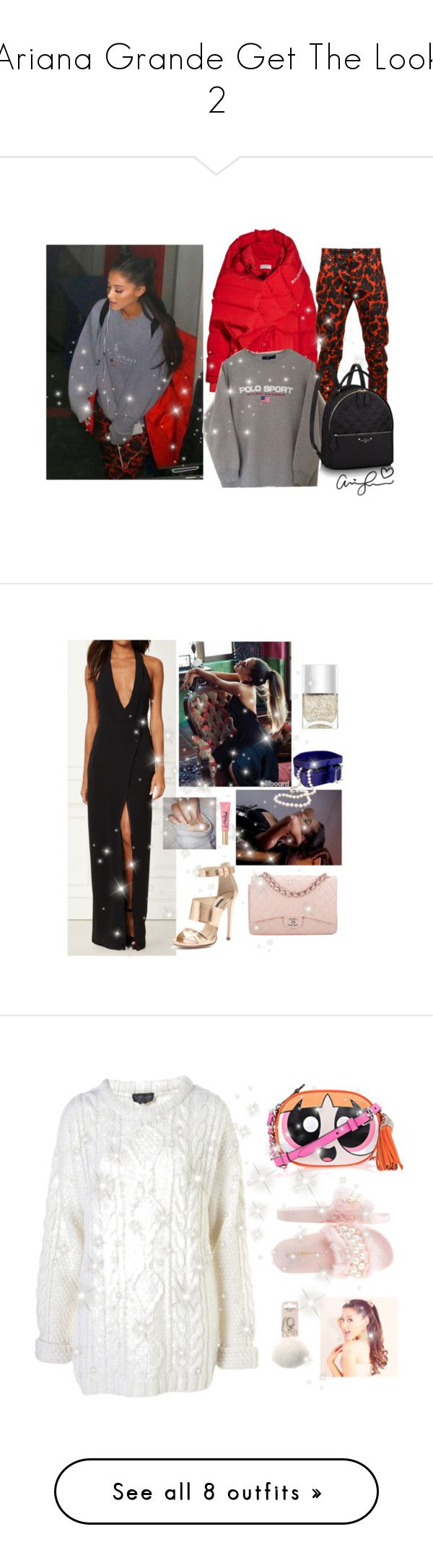 """""""Ariana Grande Get The Look 2"""" by faanciella on Polyvore featuring mode, Balenciaga, Elwood, ArianaGrande, Ruthie Davis, Chanel, Nails Inc., Too Faced Cosmetics, Wild Diva et Moschino"""