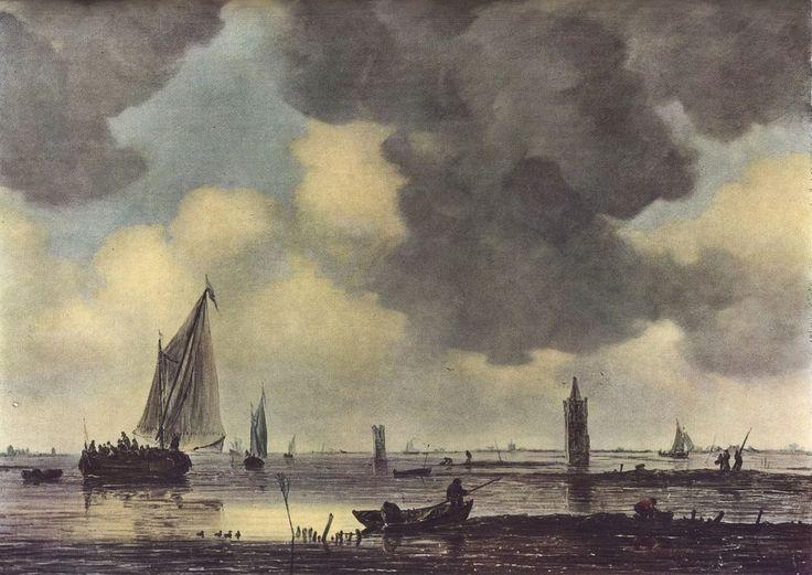 Jan van Goyen - Boten op een kalme zee