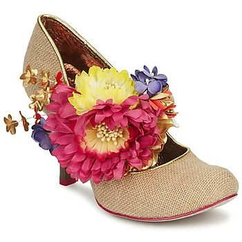 15% OFF NOW on Spartoo! These gorgeous #heels from @Irregular Choice are almost out of stock! With a hessian upper and corsage detail attached to an elastic strap, this model is unique, just like you! #outlet #clearance #floral #fashion #womens #spring