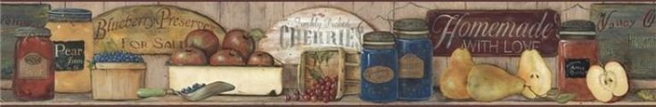 York Primitive Fruit Preserves Wallpaper Border - CB5514BD