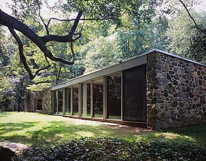 The Arthur and Edith Hooper House II, 1100 Copper Hill Road, Baltimore County MD. Marcel Breuer (1959).
