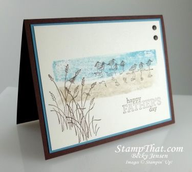 stampin up fathers day card | Wetlands Stampin' Up! Stamp Set - Father's Day Card