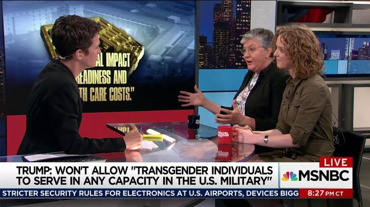 Sue Fulton, U.S. Army veteran and founding member of OutServe, and Allison Jaslow, executive director of IAVA, talk with Rachel Maddow about Donald Trump's surprise attack on transgender U.S. service members and how his new policy might be implemented.