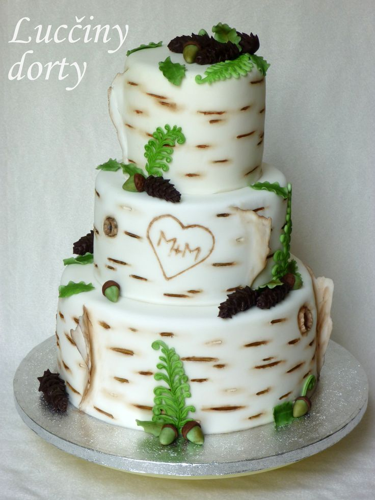 Birch tree wedding cakes