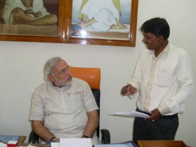 WITH CM SHREE NARENDRAMODIJI IN CMO GANDHINAGAR