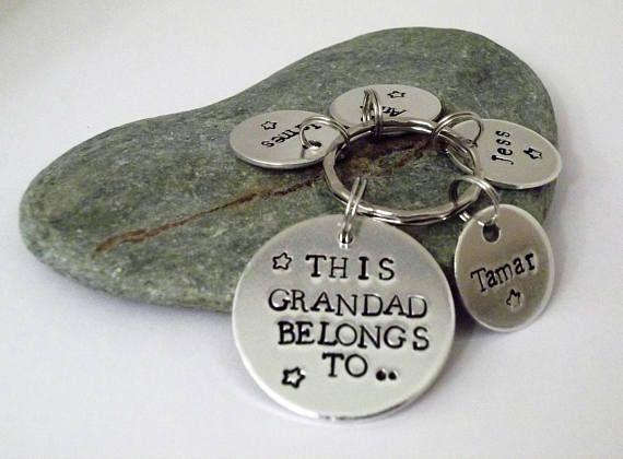 This Grandad Belongs to Keyring Personalised Keyring
