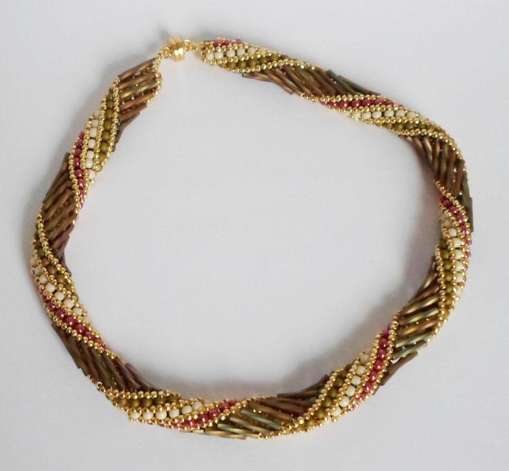 3002 Russian Spiral necklace by Darlene Pfahl
