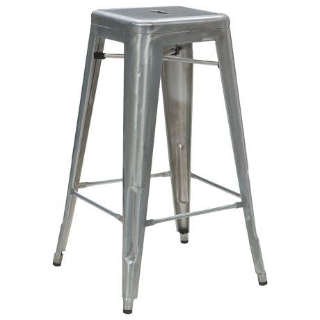 Freedom Furniture Utility Bar Stool cm Galvanised