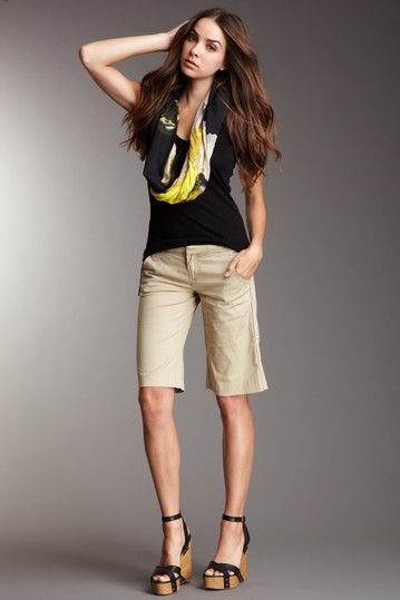 Stitch's Women Sedona Bermuda Short in Teragon Khaki Tan