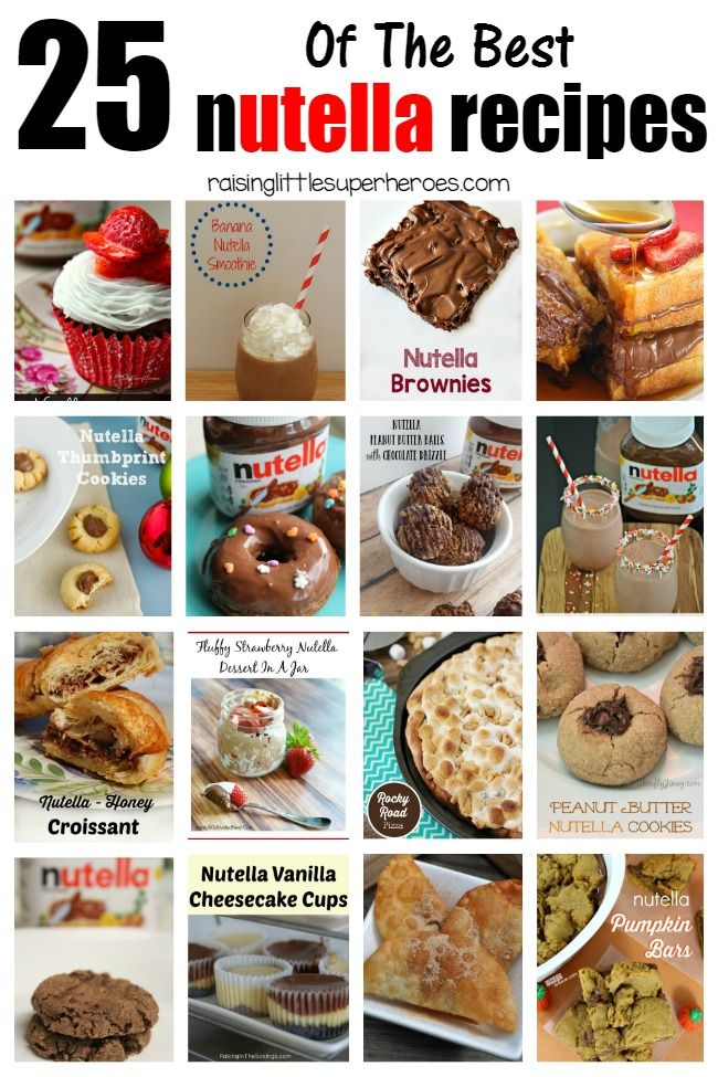 Celebrate National Nutella Day with 25 of the Best Nutella Recipes from around the web.