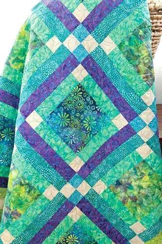 Batik Fabric Quilt Kit Easy Street Blue Green Aqua Batik