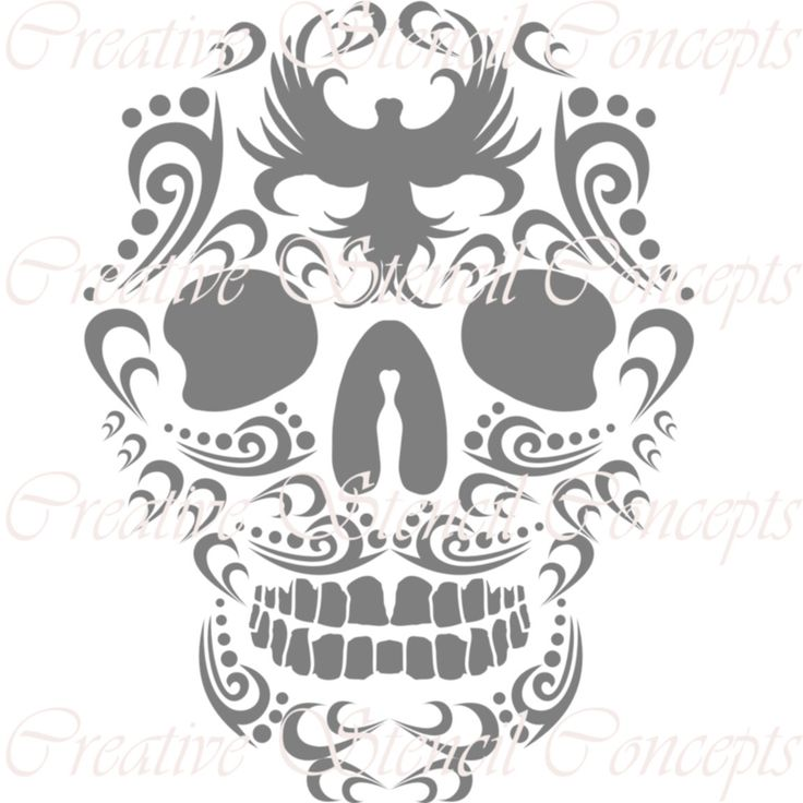 Dia Del Los Muertos Halloween Sugar Skull Decorative Stencil MULTIPLE SIZES AVAILABLE on Industry Standard 12 Mil Mylar Design 125471642 by CreativeStencils on Etsy https://www.etsy.com/listing/204741519/dia-del-los-muertos-halloween-sugar