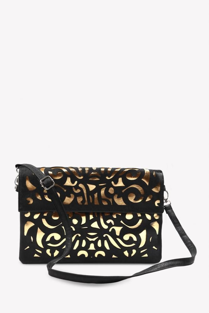 Quirky Cutwork Sling Bag