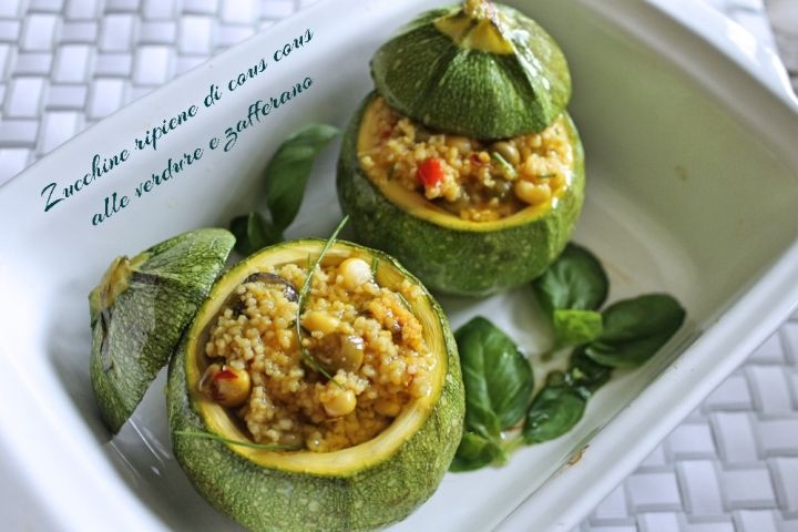 150 Stuffed Vegetable Recipes in Italian. This is Zucchine ripiene di cous cous alle verdure
