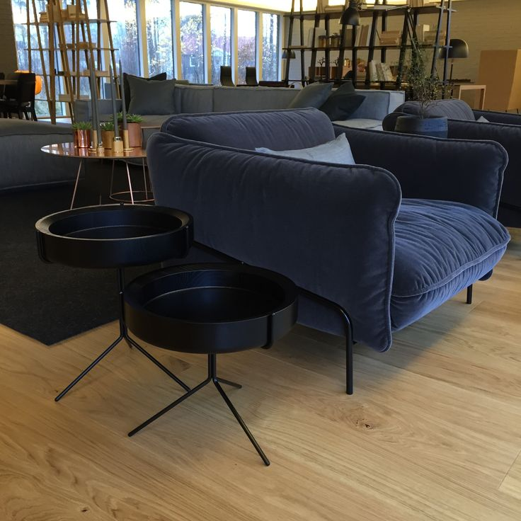 Continental easychair Claesson Koivisto Rune Drum table Corinna Warm for Swedese Showroom