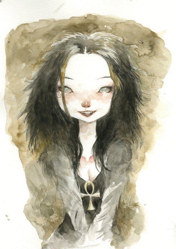 Death #fanart #watercolor #tonysandoval