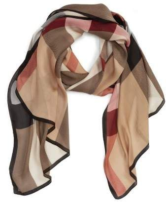 87d94acf607  Ultra Mega Check  Washed Mulberry Silk Scarf  scarf lightweight cut.