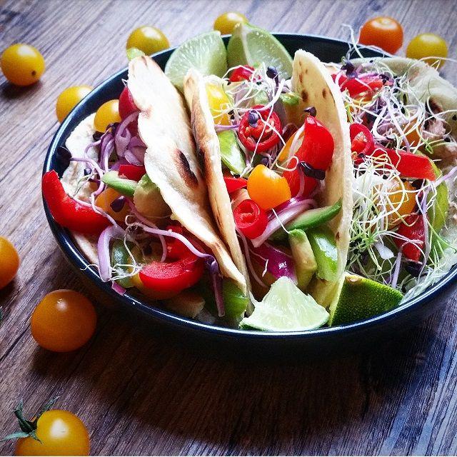 Tacos végétariens, et tortillas 100% fait maison - Copyright © Gratinez