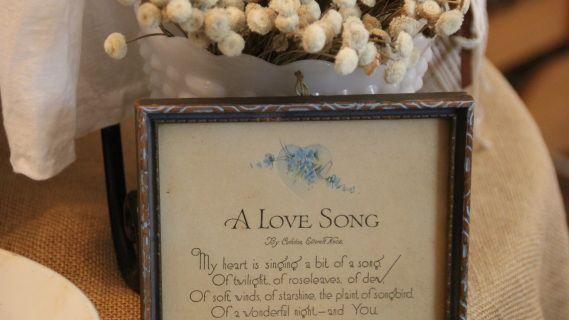 A sweet vintage poem framed.