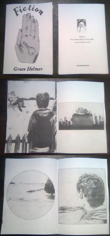 """""""Fiction"""" - Grace Helmer *14 x 20 cm *28 pages *b/w laser…"""