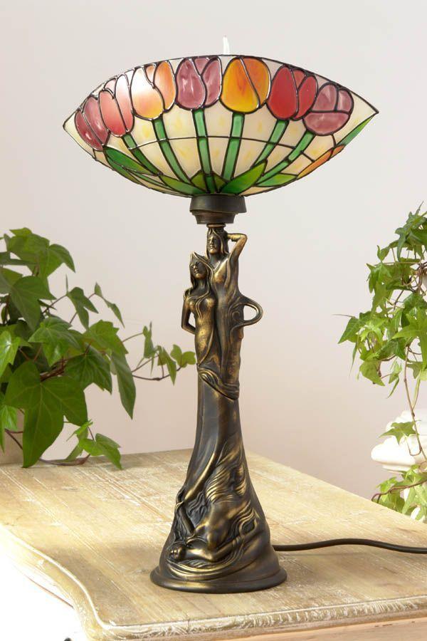 Tulipany - lampa w stylu secesyjnym / lamp in the Art Nouveau style