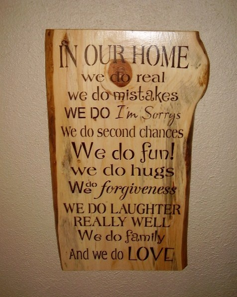 Typography Rustic Sign ~ In Our Home