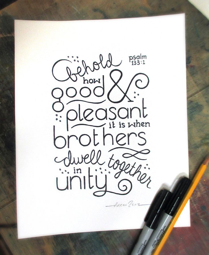 dwell together in Unity • Psalm 133:1 • Aaron Zenz