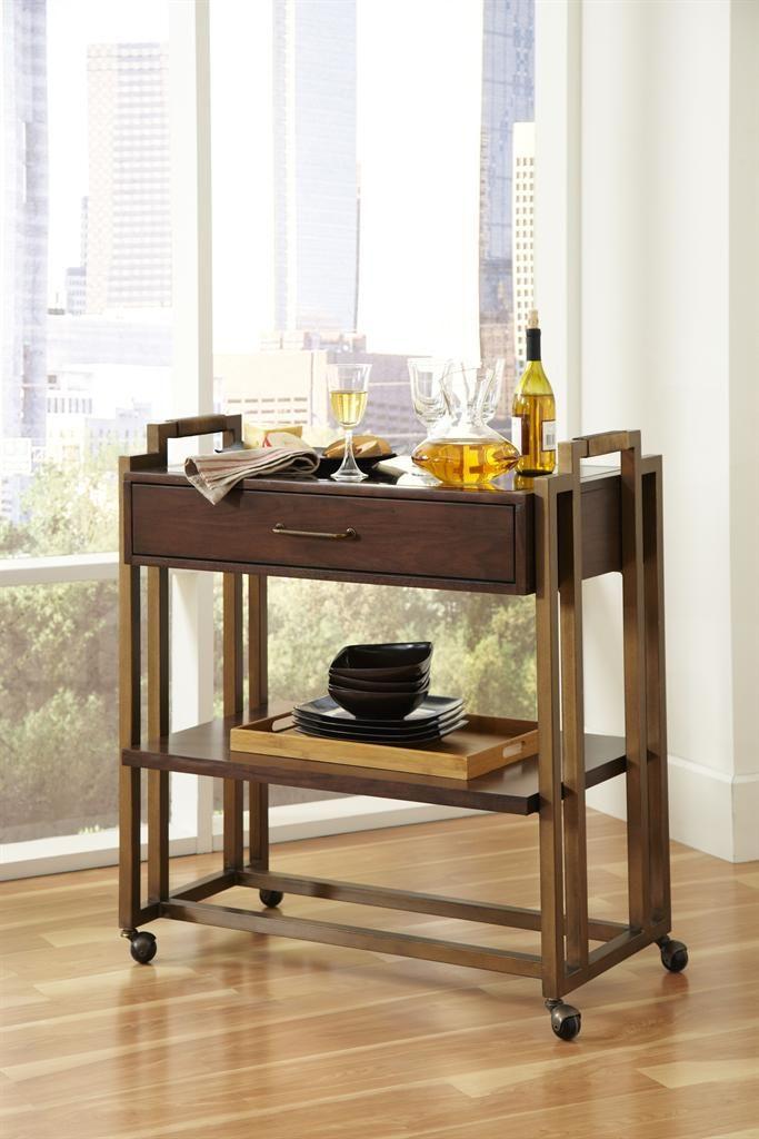 Modern Harmony Serving Cart (Modern Harmony Servers/Sideboards) | Pulaski  Furniture | Home