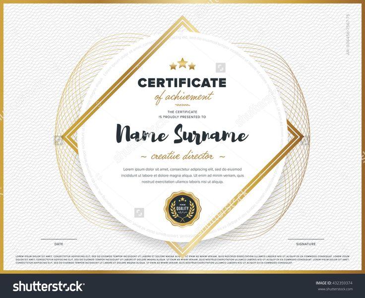 Certificate Vector Template Diploma Design Graduation - creative certificate designs