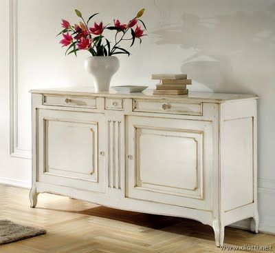 credenza in foyer of home