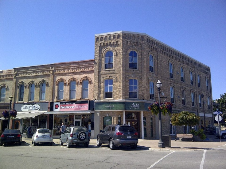 Downtown Goderich, Ontario.