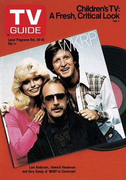 TV Guide October 20, 1979 - Loni Anderson, Howard Hesseman and Gary Sandy of WKRP in Cincinnati