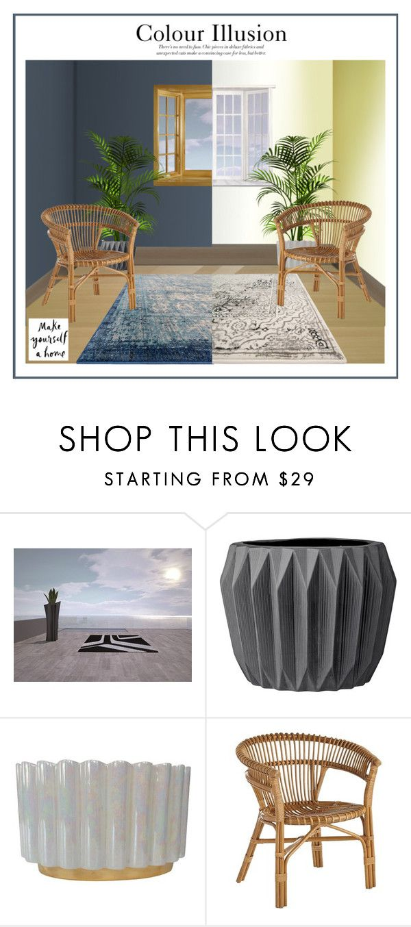 """Colour Illusion - Make Yourself A Home Contest"" by ollie-and-me ❤ liked on Polyvore featuring interior, interiors, interior design, home, home decor, interior decorating, Loloi Rugs and Pier 1 Imports"