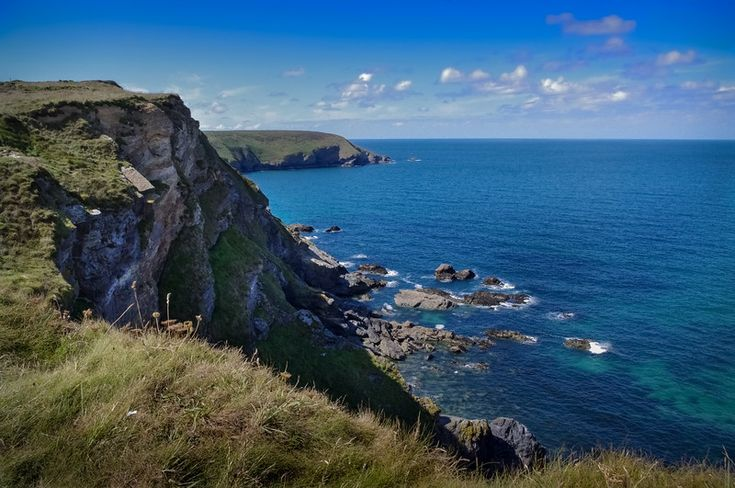 Rocky Cornwall coast east of St Ives and Hayle. #Cornwall #Coast #Photography #Britain #WallArt #Downloads #RoomDecor