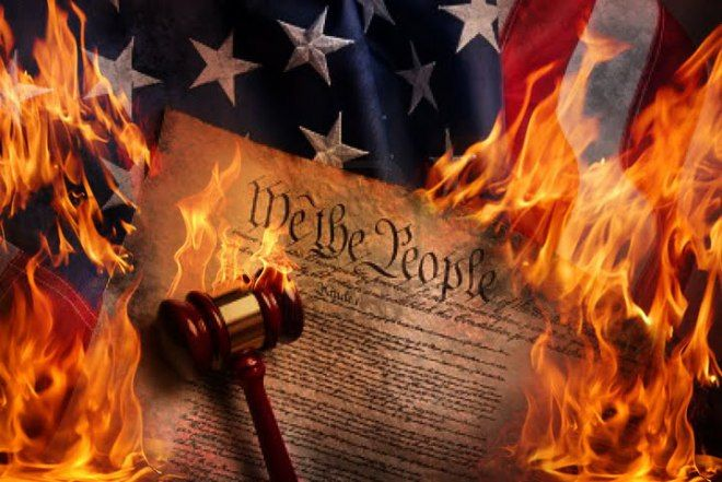 "DNC Calls to Destroy the Constitution to Protect Us from Conservatives -- The Vice President of the Democratic National Convention (DNC) put out a Twitter call to destroy the US Constitution. She even attached the article calling to destroy the Constitution to ""save the American democracy"" from Republicans. [...] 10/01 - ***Uh... NO... Not Happening... Not On America's Patriots' Watch!!!"