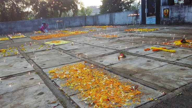 Graves decorated with Flowers on All Souls Day at Our Lady of Fatima Church, Chulne. Vasai West.  Courtesy: Facebook page/ Chulne.com