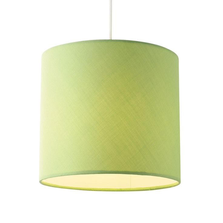 Colours Haymarket Green Drum Light Shade (Dia)200mm | Departments | DIY at B&Q