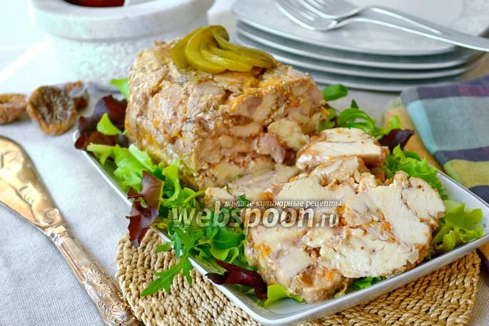 Фото Террин из курицы с инжиром