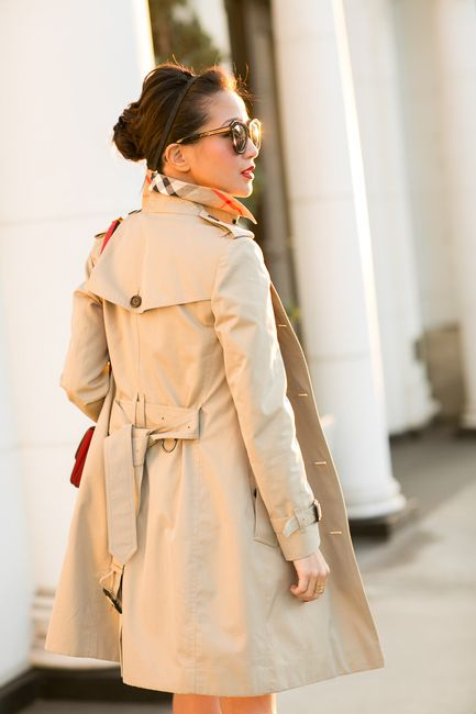 beige out bow dress trench coat wendy 39 s lookbook art of the trench coat pinterest. Black Bedroom Furniture Sets. Home Design Ideas