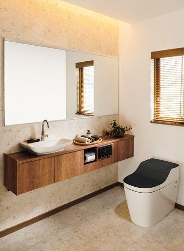 トイレの床もリビングやダイニングのように、好きな色柄にしませんか。LDKと同じ柄にして家全体のイメージを統一するのもいいですね。リビングとは違う柄を選んで、個性的な空間にするのもおすすめです。