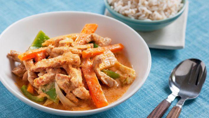 Thaigryte med svinekjøtt