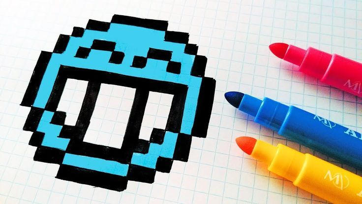 Handmade Pixel Art How To Draw A Blue Emoji Pixelart Dessin Pixel Pixel Art Dessin Kawaii How to create your own minecraft pixel art template. pinterest